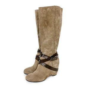 Franco Sarto Marla Tall Wedge Heel Riding Boots
